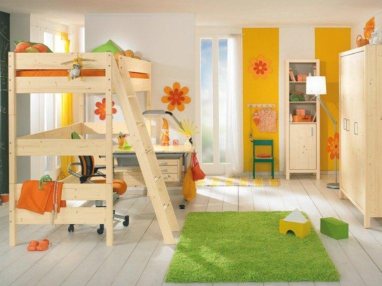 diseño muebles madera habitación niños