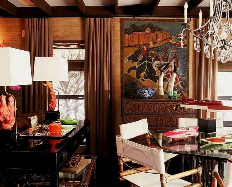 Decoracion etnica para interiores   artesanía y color