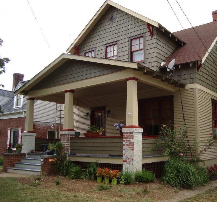casa porche estilo clásico