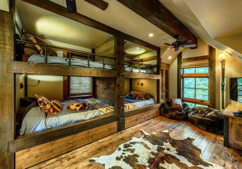 diseño rústico habitacion compartida