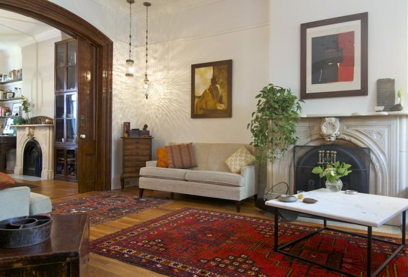 diseño salon alfombra étnica