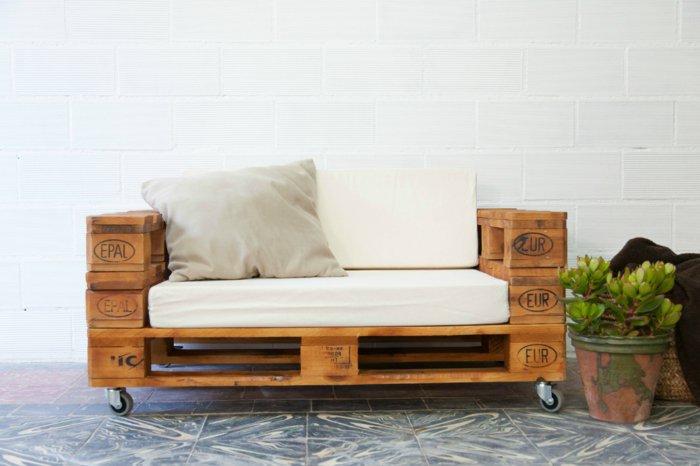 Palet de madera para decorar su hogar 100 ideas for Sillones de terraza baratos