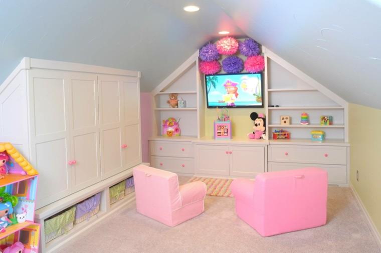 diseño sillones dormitorio rosa claro