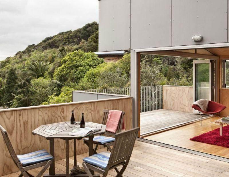 terrazas modernas revestidas madera
