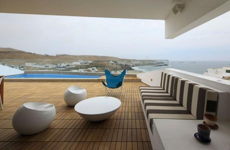 diseño terraza estilo minimalista
