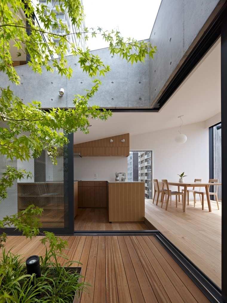diseño terraza moderna interior exterior