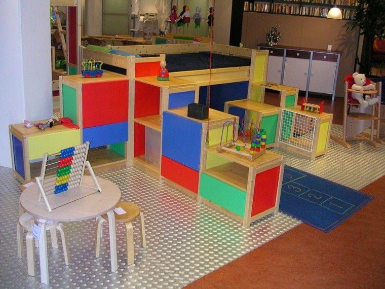 diseño zona infantil colores