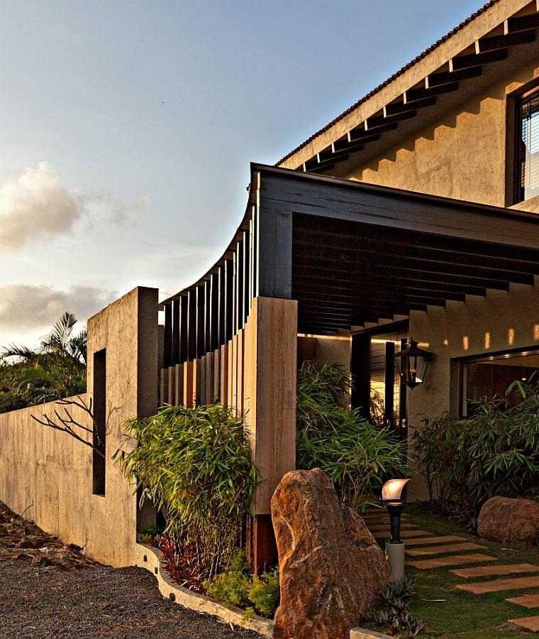 diseño pérgola obra casa moderna