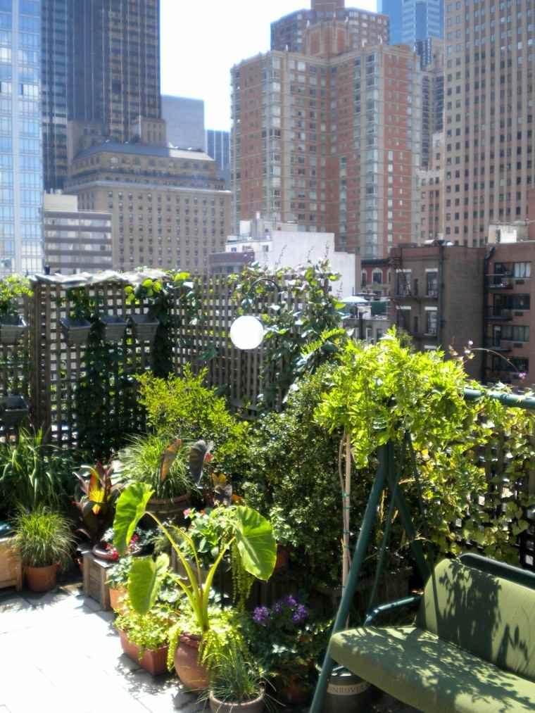 diseños modernos decoracion terrazas plantas