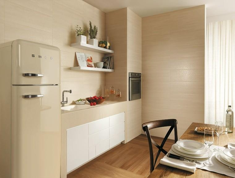 Dise os de cocinas ideas originales para inspirarse for Estanterias cocinas pequenas