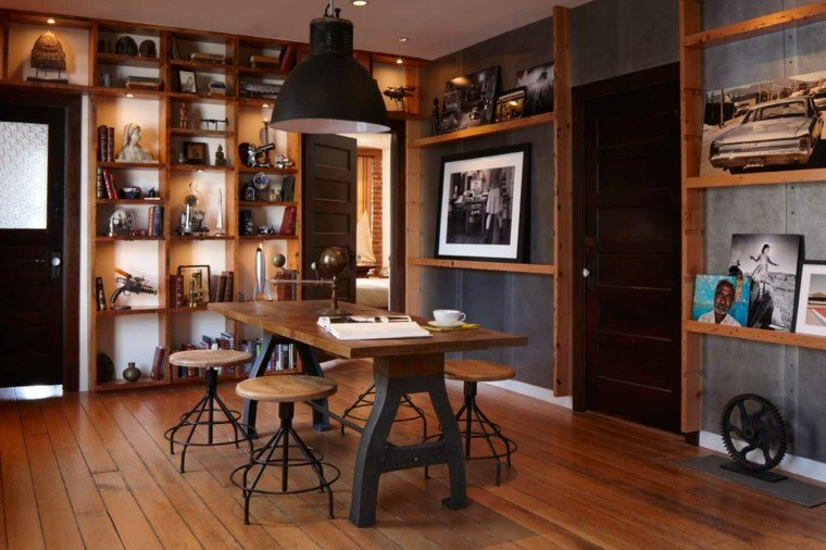 decoracion industrial comedor moderno ideas