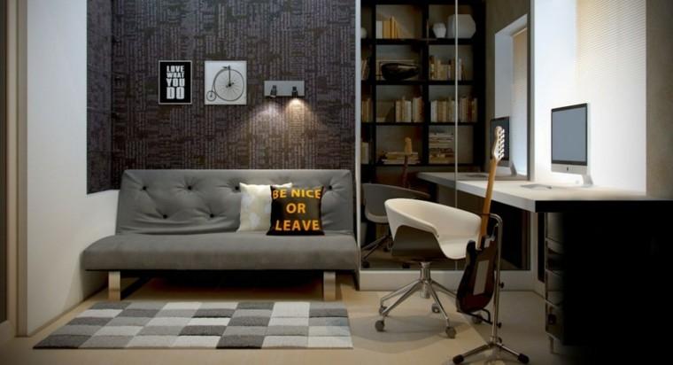 Decoracion industrial 33 ideas para el hogar for Oficina en casa diseno