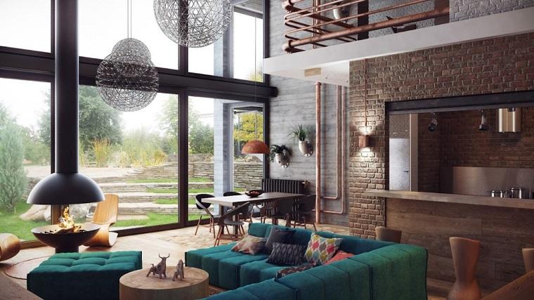 diseno industrial sofa modular verde ideas