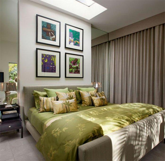 dormitorio diseño cuadros paredes color variantes