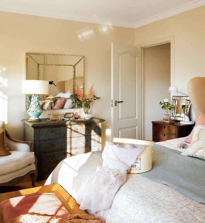 dormitorio diseño detalles casa vintage zonas