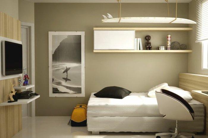 Dormitorio diseño pequeño en 50 variantes prácticas.