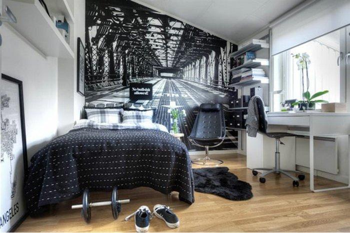 dormitorio diseño detalles varonil maderas juvenil
