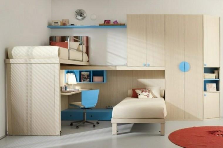 dormitorio infantil muebles color beige