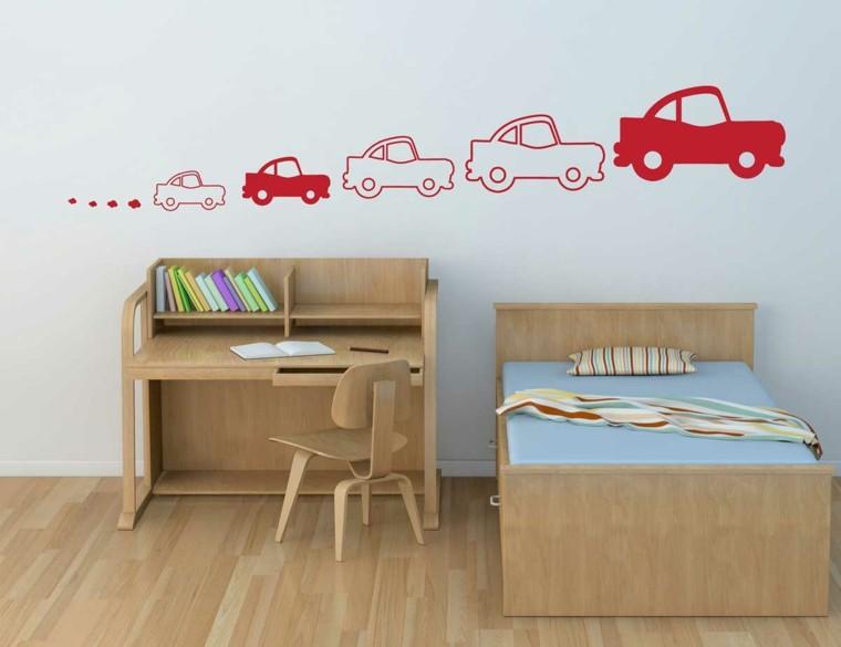 dormitorio infantil estilo minimalista madera