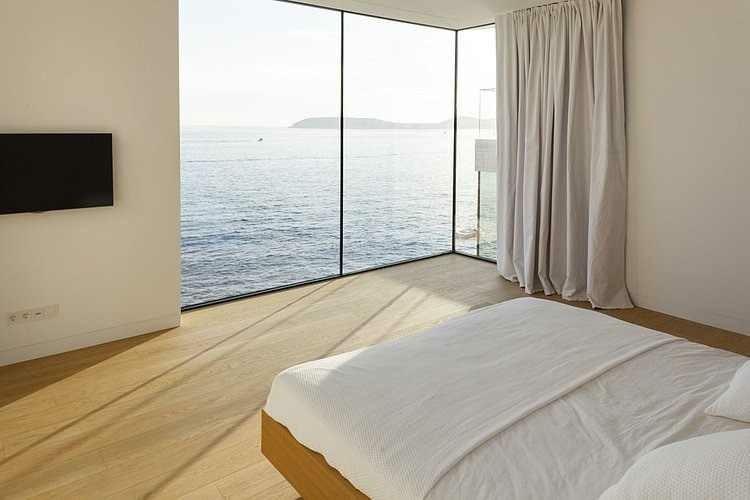 dormitorio vistas mar estilo minimalista