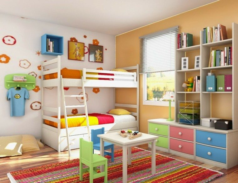 dormitorio infantil litera blanca deco
