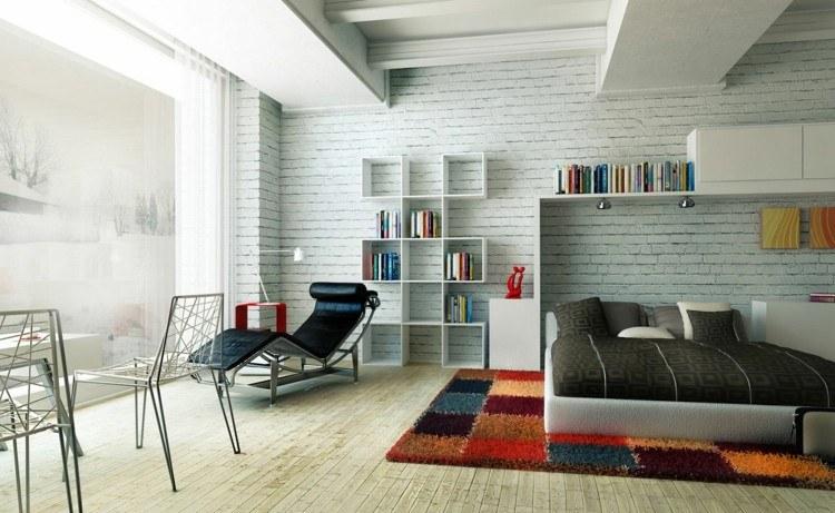 dormitorio joven diseño alfombra colors