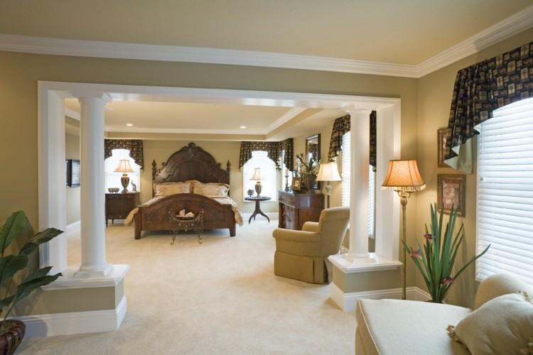 dormitorio estilo lujoso cama madera
