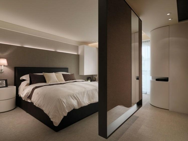 dormitorio estilo minimalista color marron