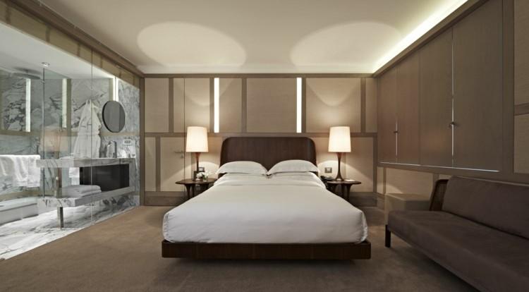 dormitorio moderno tonos marrones