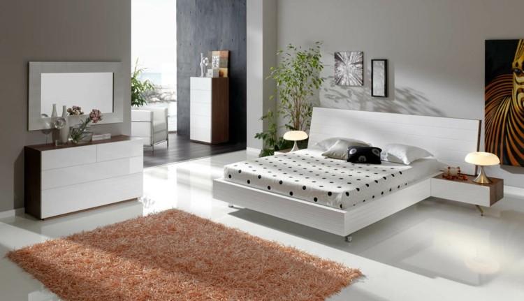 dormitorio diseño cama lunares