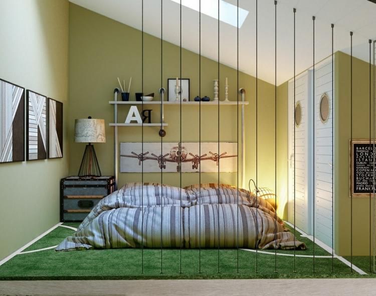 dormitorios juveniles modernos decorado aviones calido