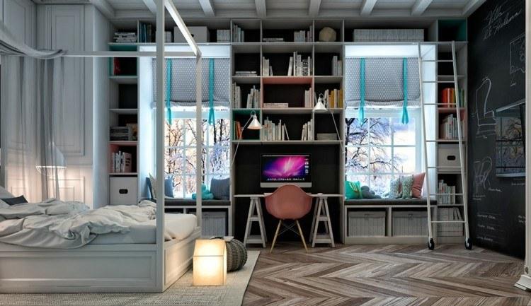 dormitorios juveniles modernos decorado caslido ventanas