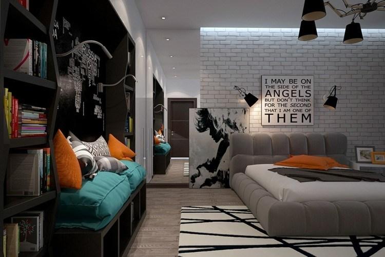 dormitorios juveniles modernos decorado estilos lamparas