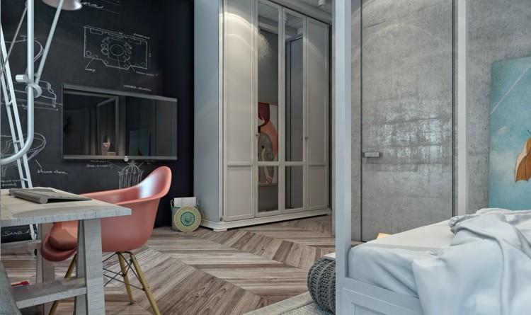 dormitorios juveniles modernos decorado maderas oscuro