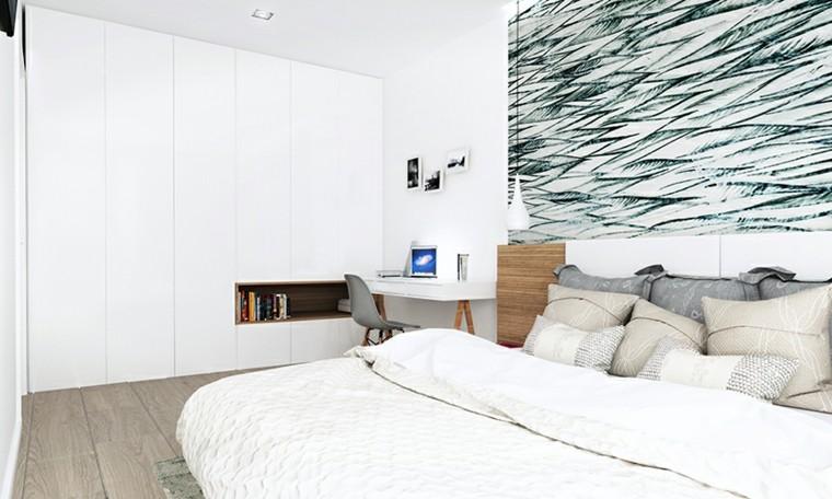 dormitorios matrimonio modernos armarios empotrados pared ideas