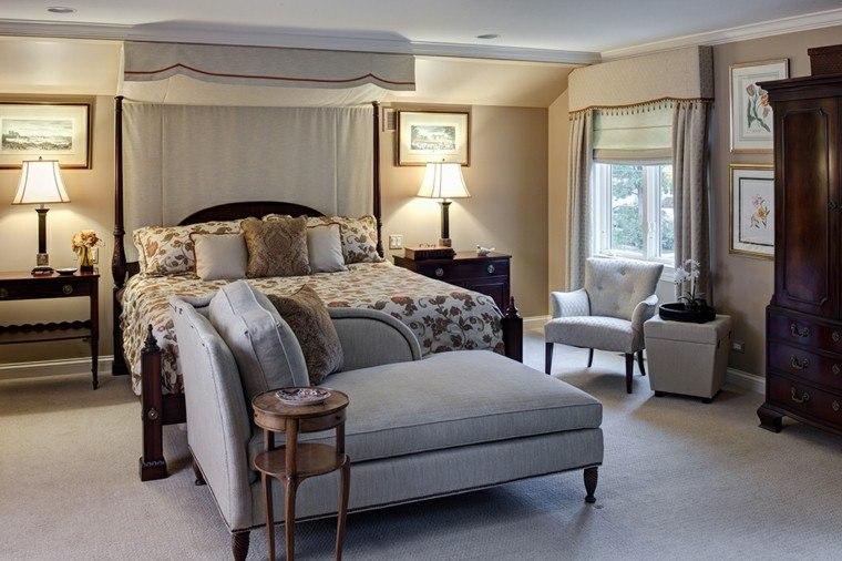 dormitorios matrimonio modernos cama dosel cuadros ideas
