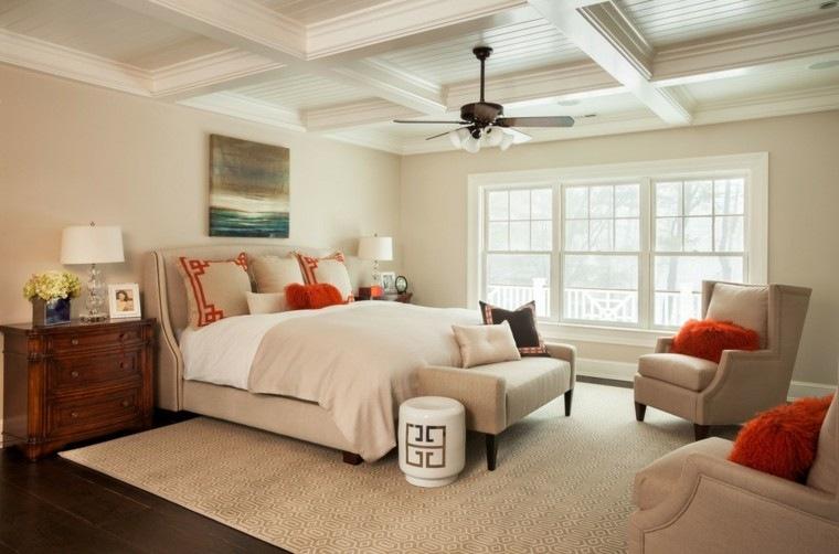 dormitorios matrimonio modernos colores neutrales muebles