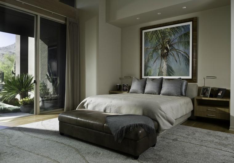 dormitorios matrimonio modernos cuadro grande ideas