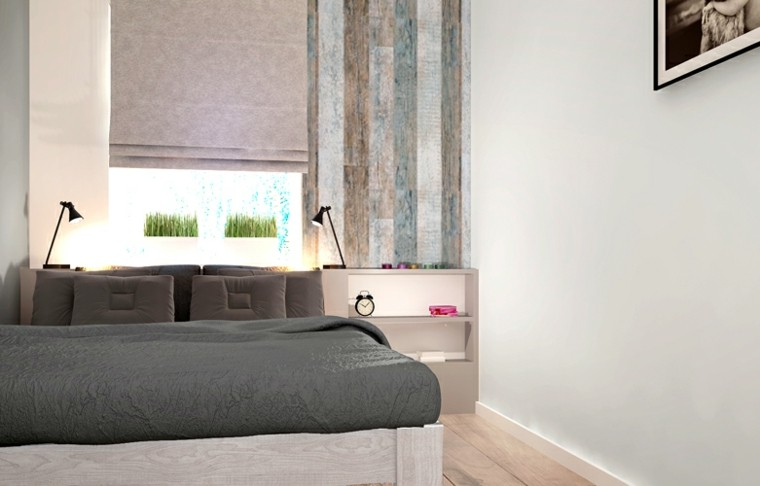 dormitorio matrimonio moderno plantas ventana ideas