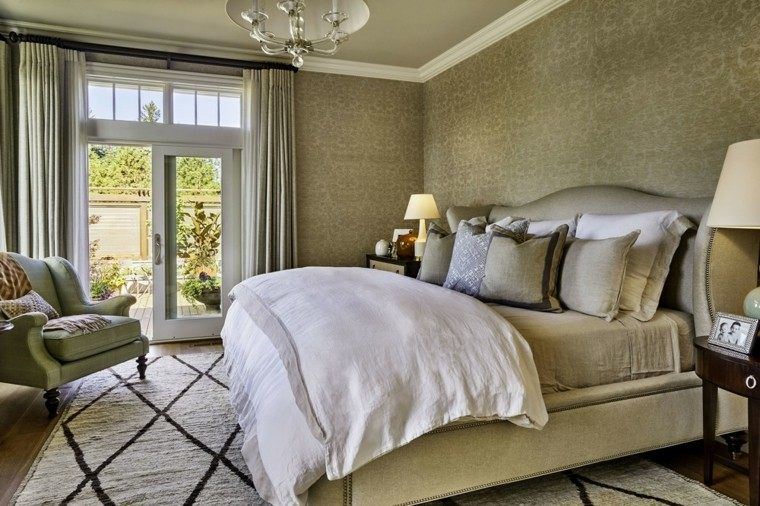 dormitorio matrimonio moderno silllon verde ideas
