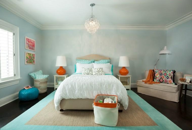 dormitorio matrimonio moderno toques azul ideas
