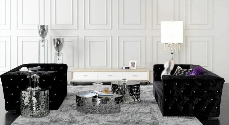 dos sofas chester negros modernos