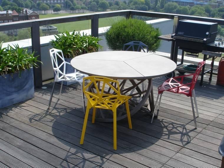 dsieño sillas exterior colores terraza