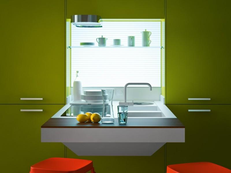 muebles cocina verde lima