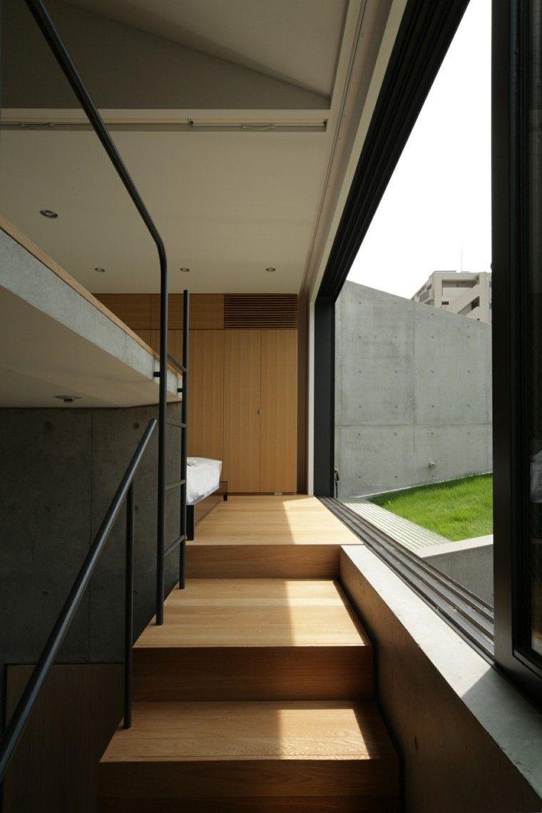 escaleras madera laminada vistas terraza
