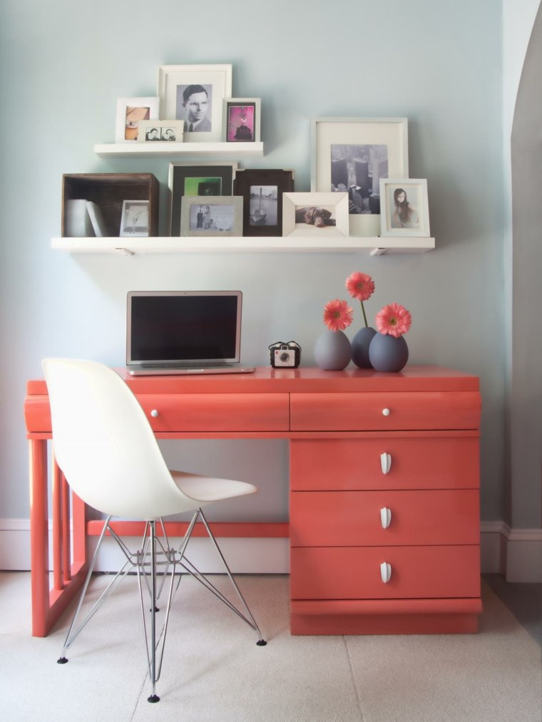 escritorio diseños espacios variantes flores