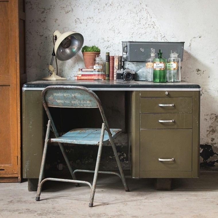 escritorio diseno industrial vintage precioso ideas
