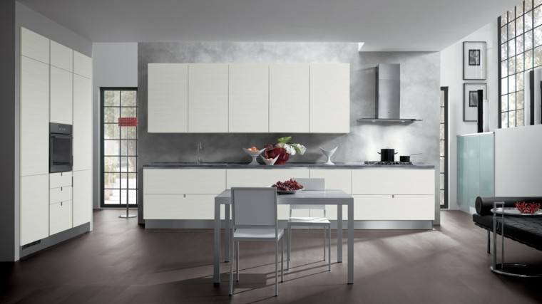 espacios amplios girs cocina modernos ideas