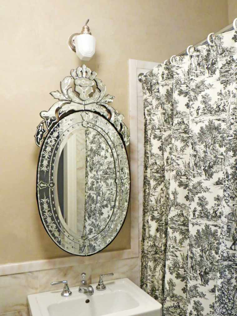 espejo cuarto baño estilo retro