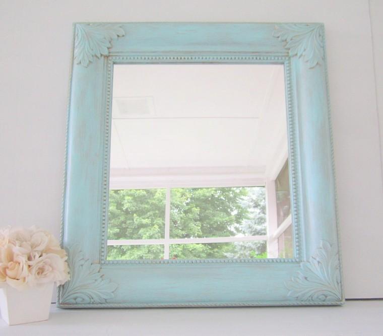 Espejos vintage de estilo rom ntico m s de 30 dise os for Espejos cuadrados pequenos